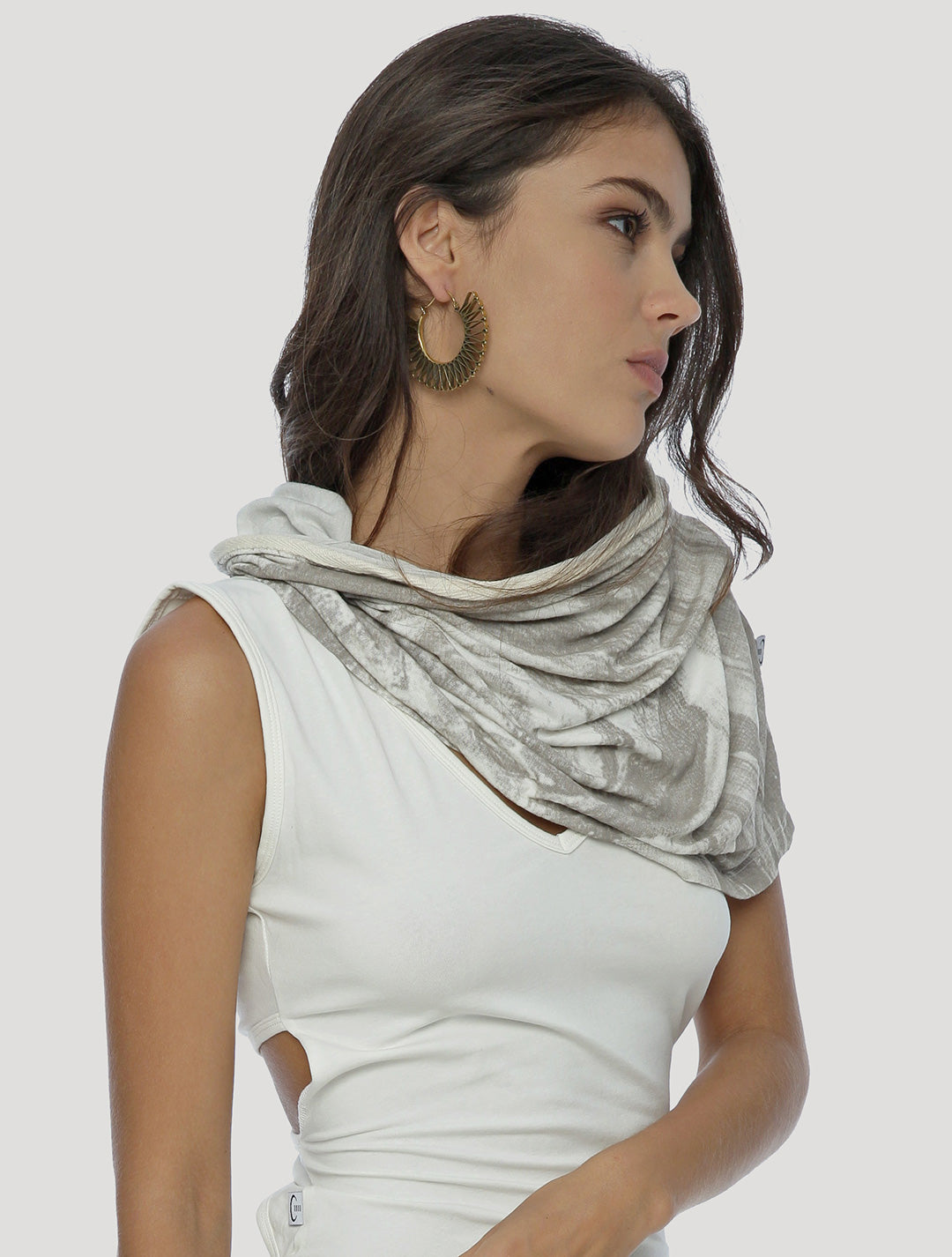 Marble Hooded Neck warmer - Psylo Fashion