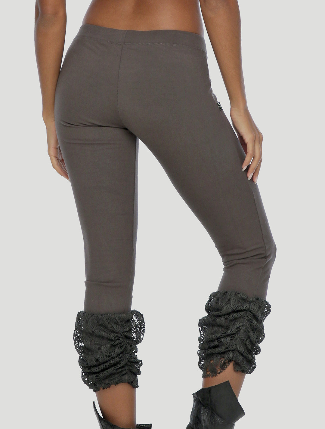 Psylo Fashion ethical alternative streetwear Moon 7/8 Leggings in grey charcoal