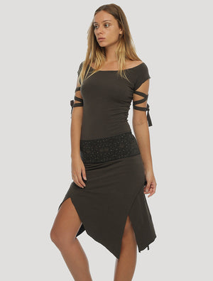 Monroe RMX Short Sleeves Corset Dress