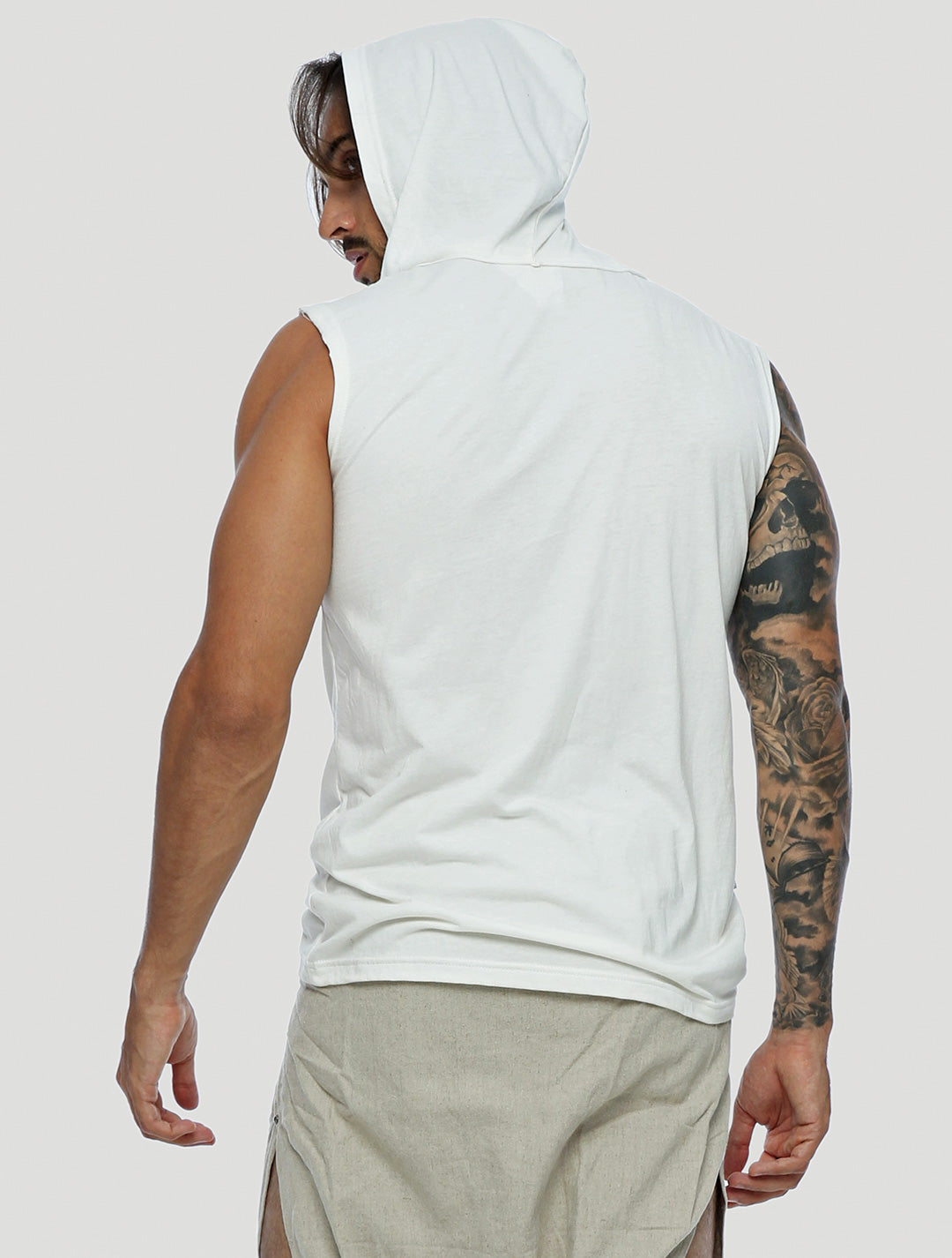 Mask Sleeveless Hoodie - Psylo Fashion