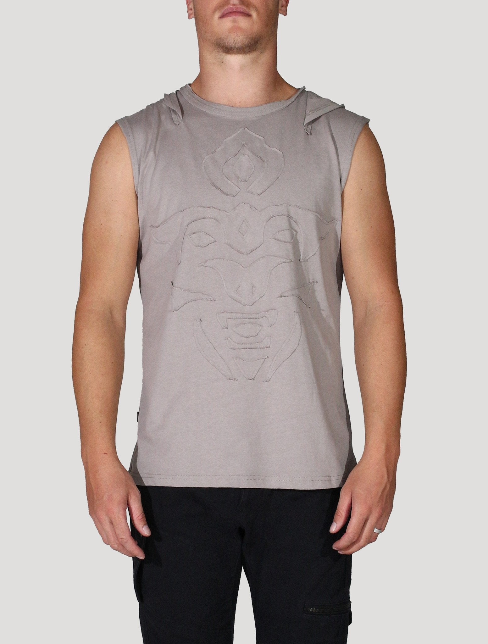 Mask Sleeveless Hoodie (Clearance Colors)