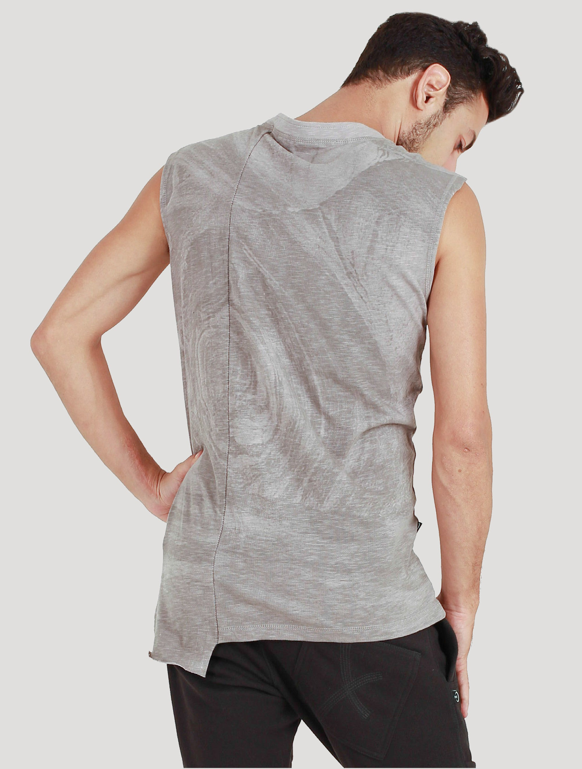 Marble Sleeveless Tee - Psylo Fashion