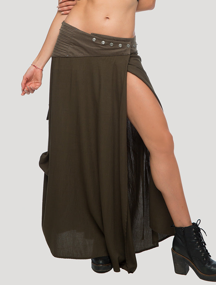 Nana Wrap Long Skirt