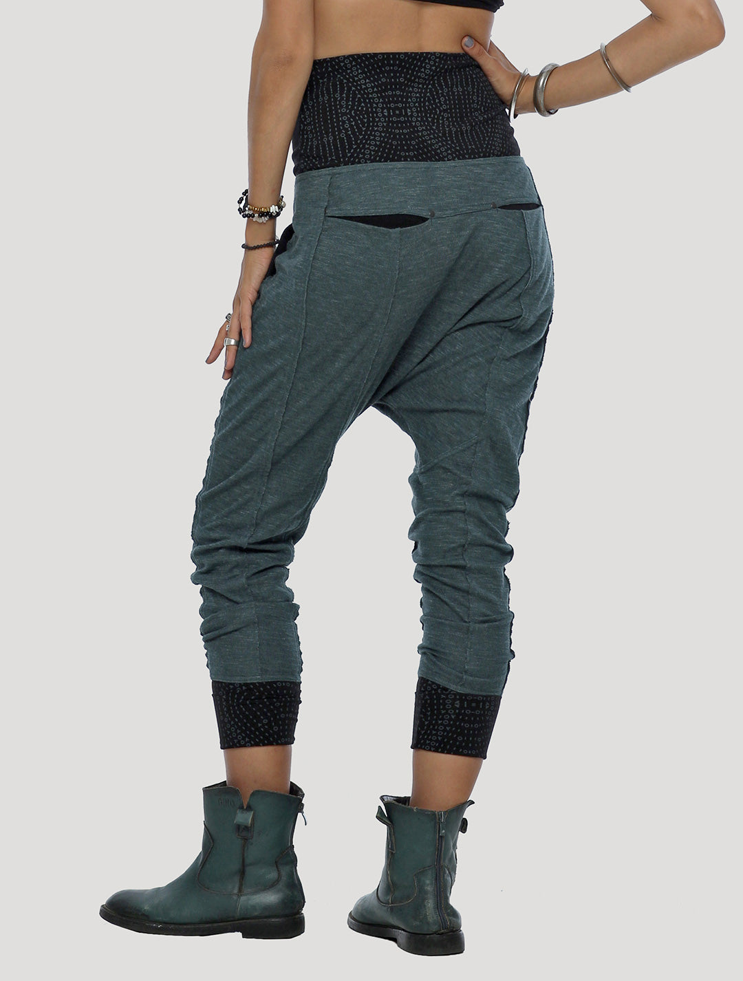 Onicha Low Crotch Track Pants - Psylo Fashion