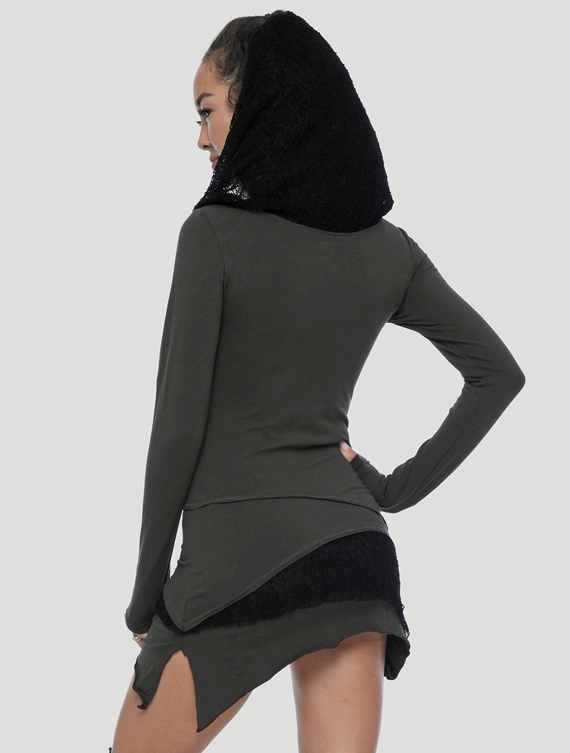 'Onesa' Long Sleeves Mini Dress
