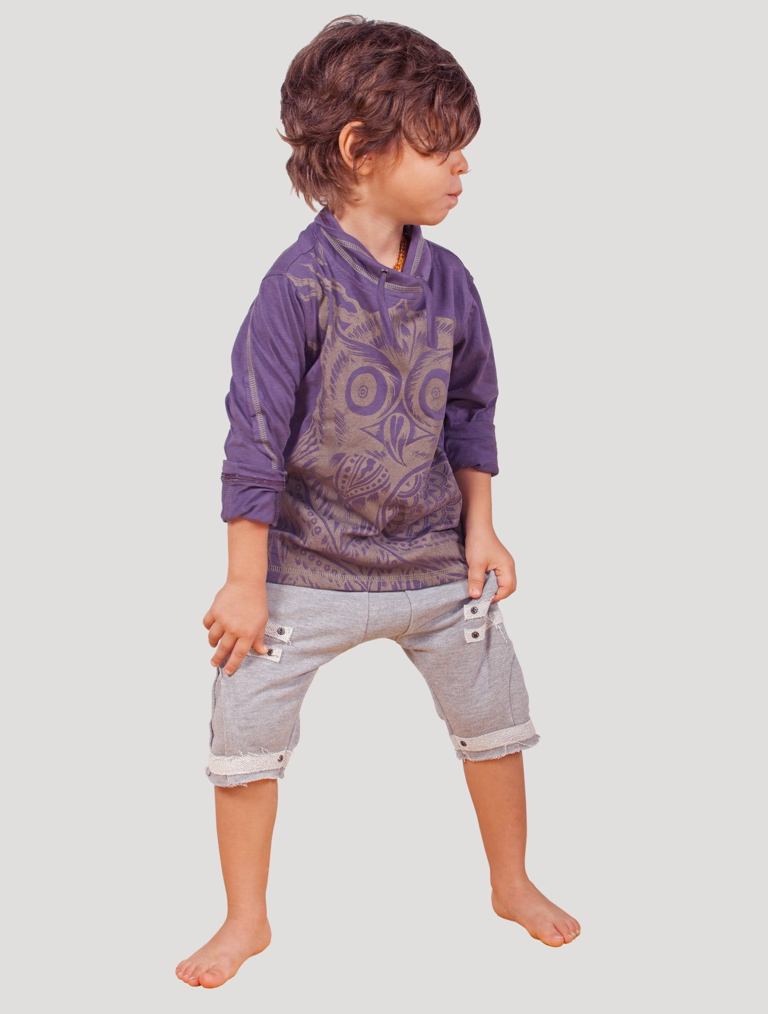 Owl Long Sleeves Top (Kids)