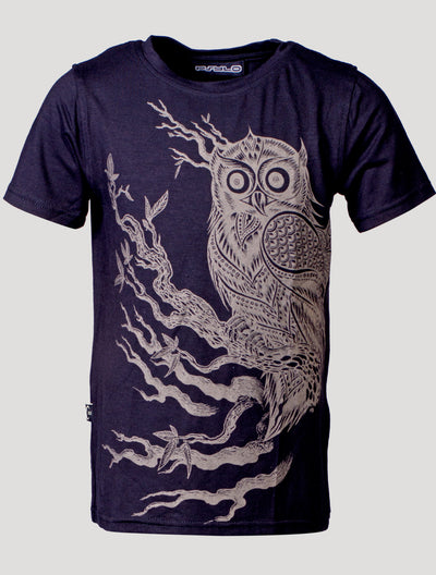 Owl Short Sleeves Top (Kids)