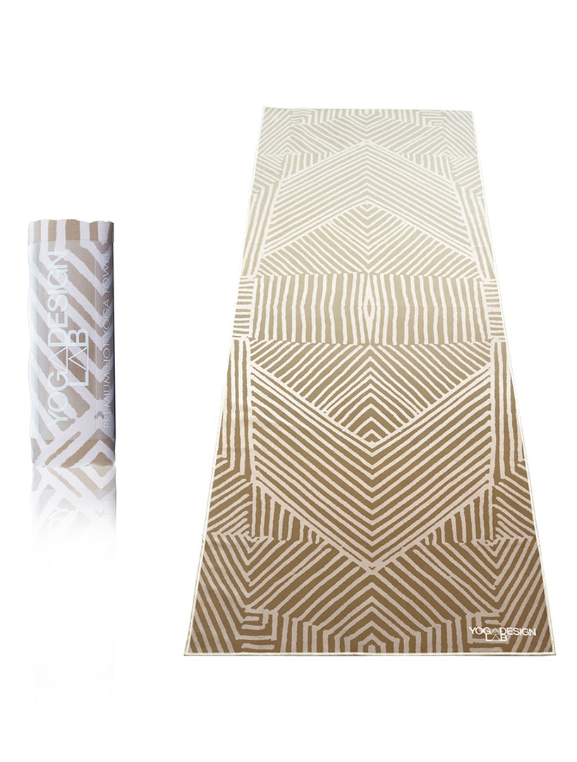 PET Resin Mat-Towel Optical Gold by Yoga Design Lab - Psylo Fashion