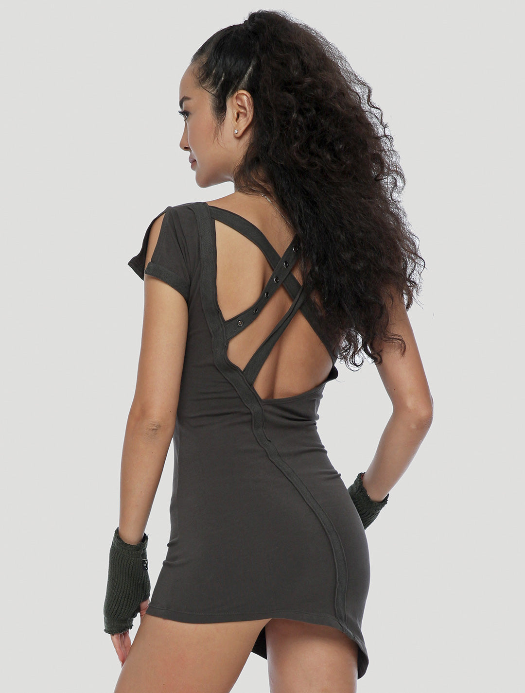 Pita Backless Mini Dress