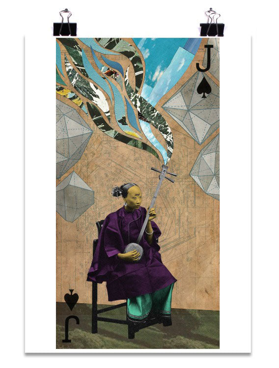 J of Spades Art Print by PlazmaLab
