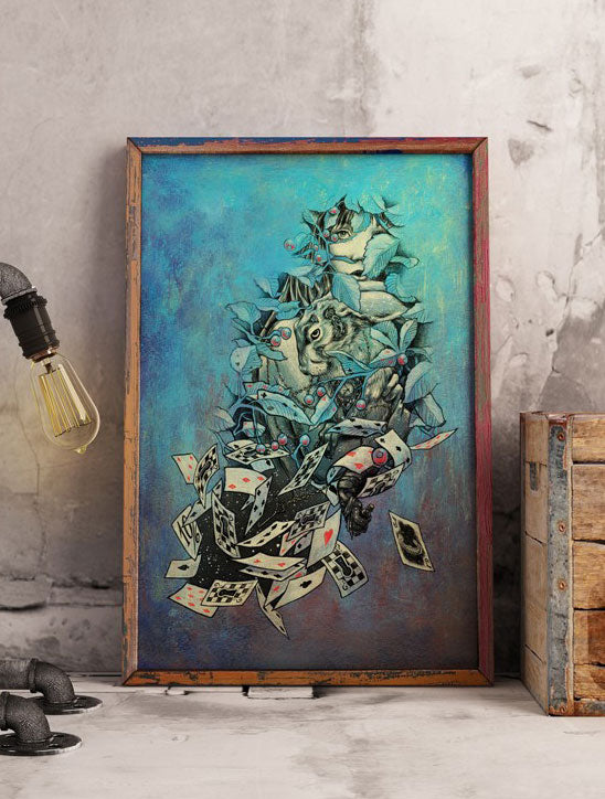 Alice in J Art Print by PlazmaLab