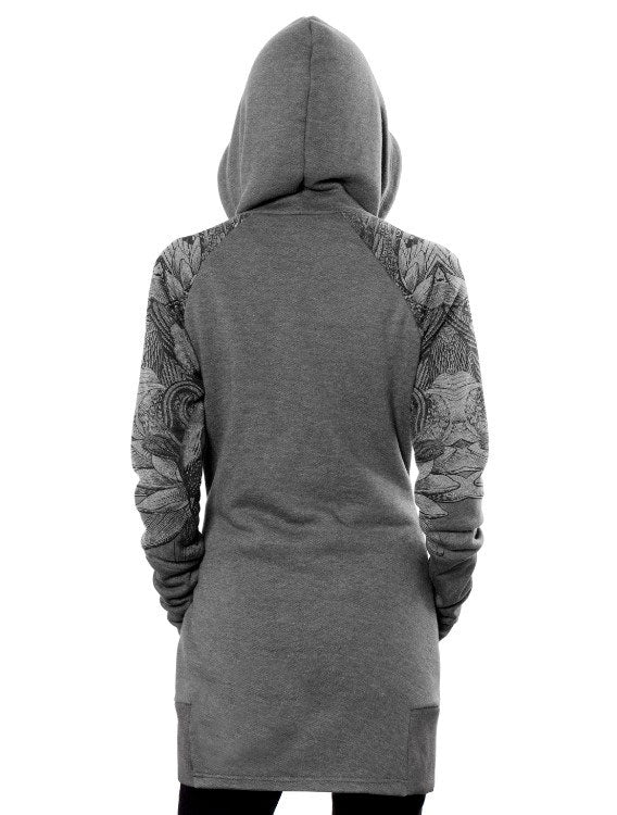 Feathers Long Hoodie by PlazmaLab