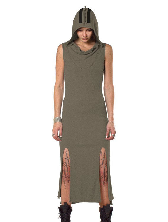 Dion Hoodie Long Dress by PlazmaLab