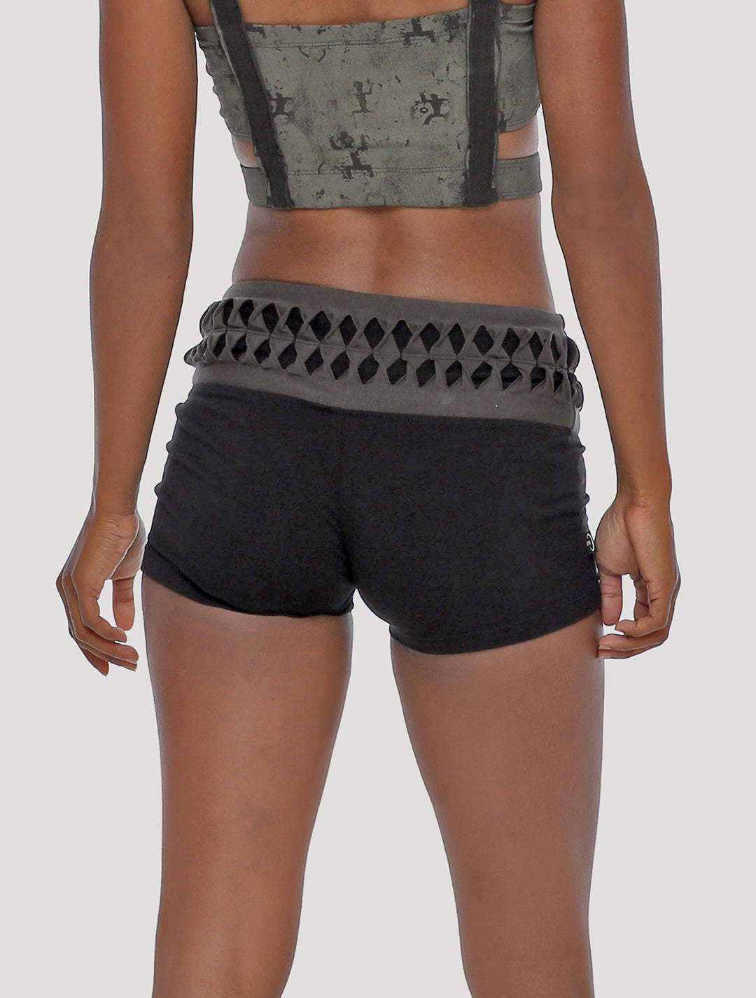 Raffia Hot Pants Shorts - Psylo Fashion