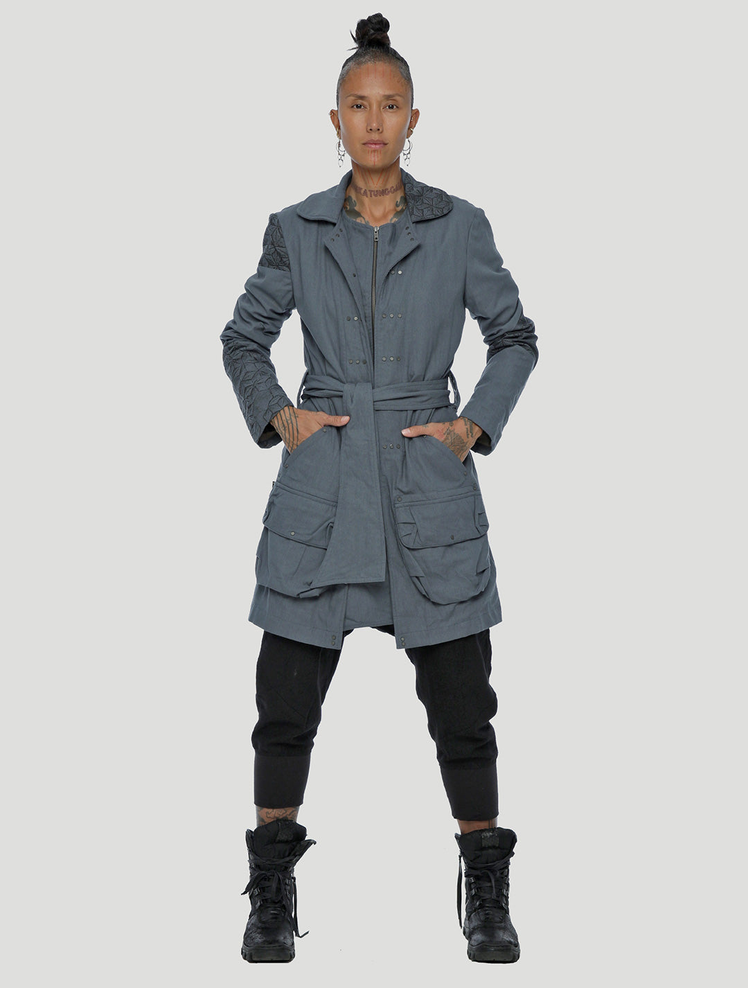 Psylo Fashion Slow Trench Coat Jacket