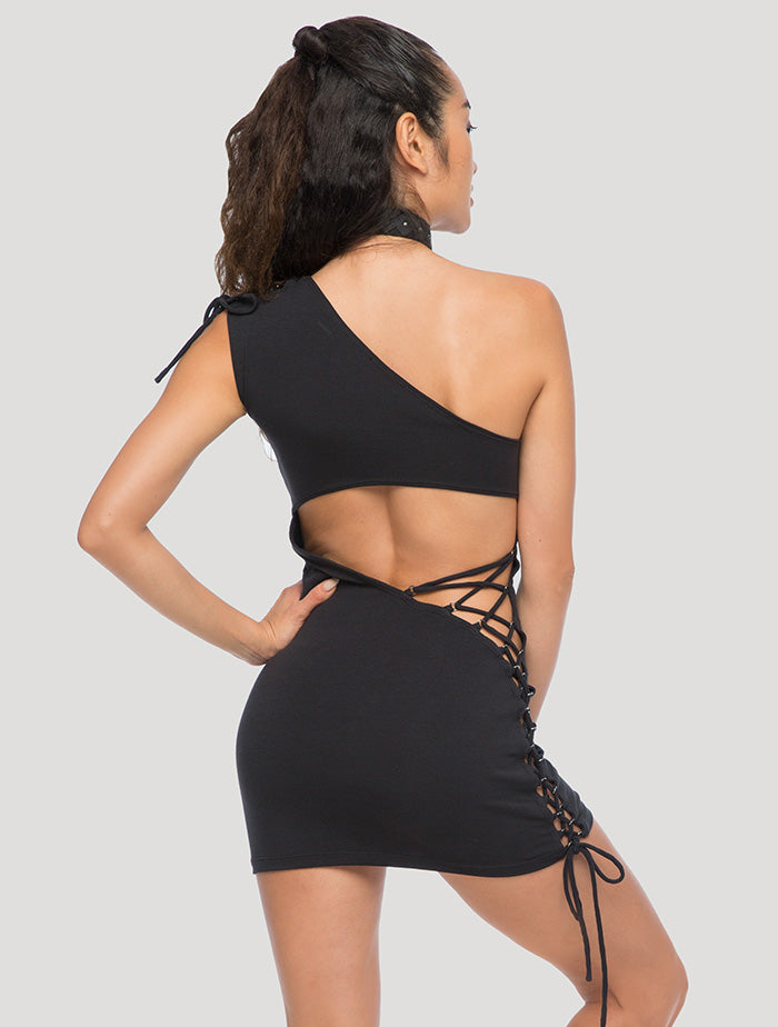 'Sunna' One-Shoulder Mini Dress