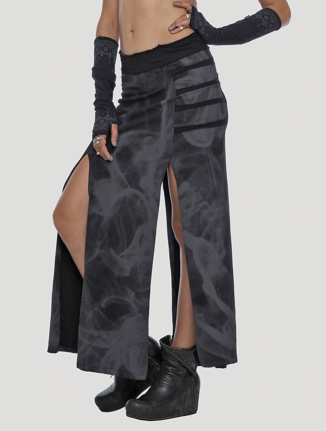 Stellar Rmx Long Skirt - Psylo Fashion