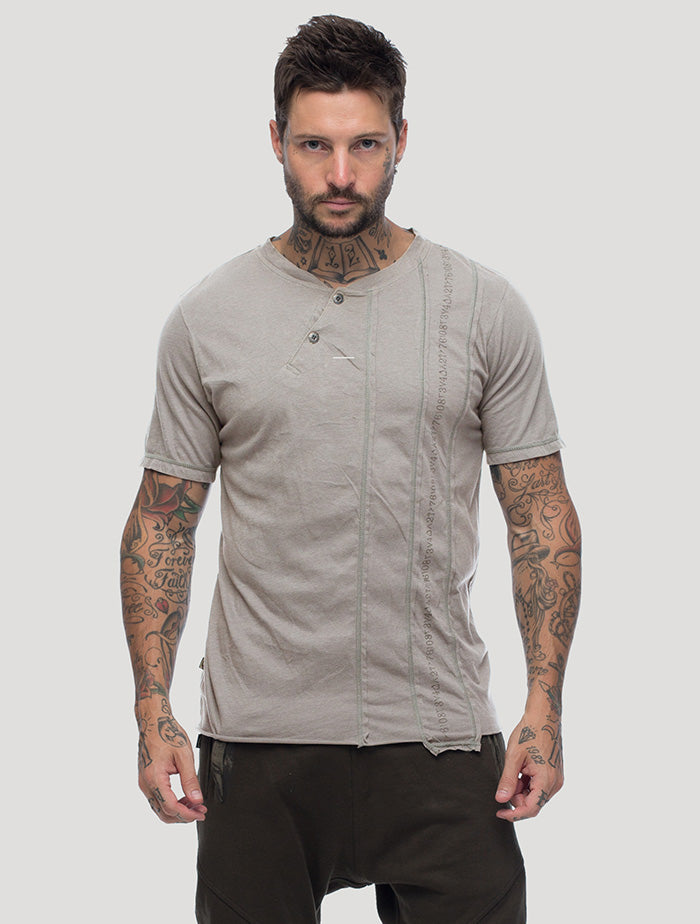 Serial Asymmetric T Shirt - Psylo Fashion