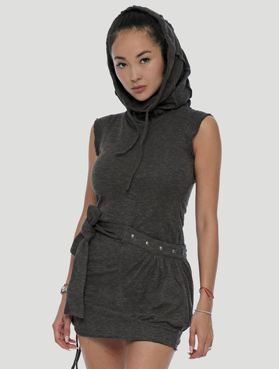 Soba Sleeveless Turtleneck Dress