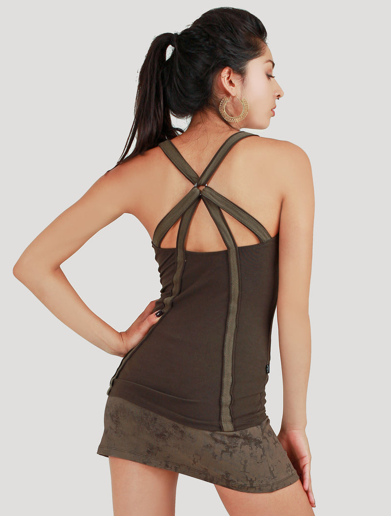 'Strap' Singlet Sleeveless Top