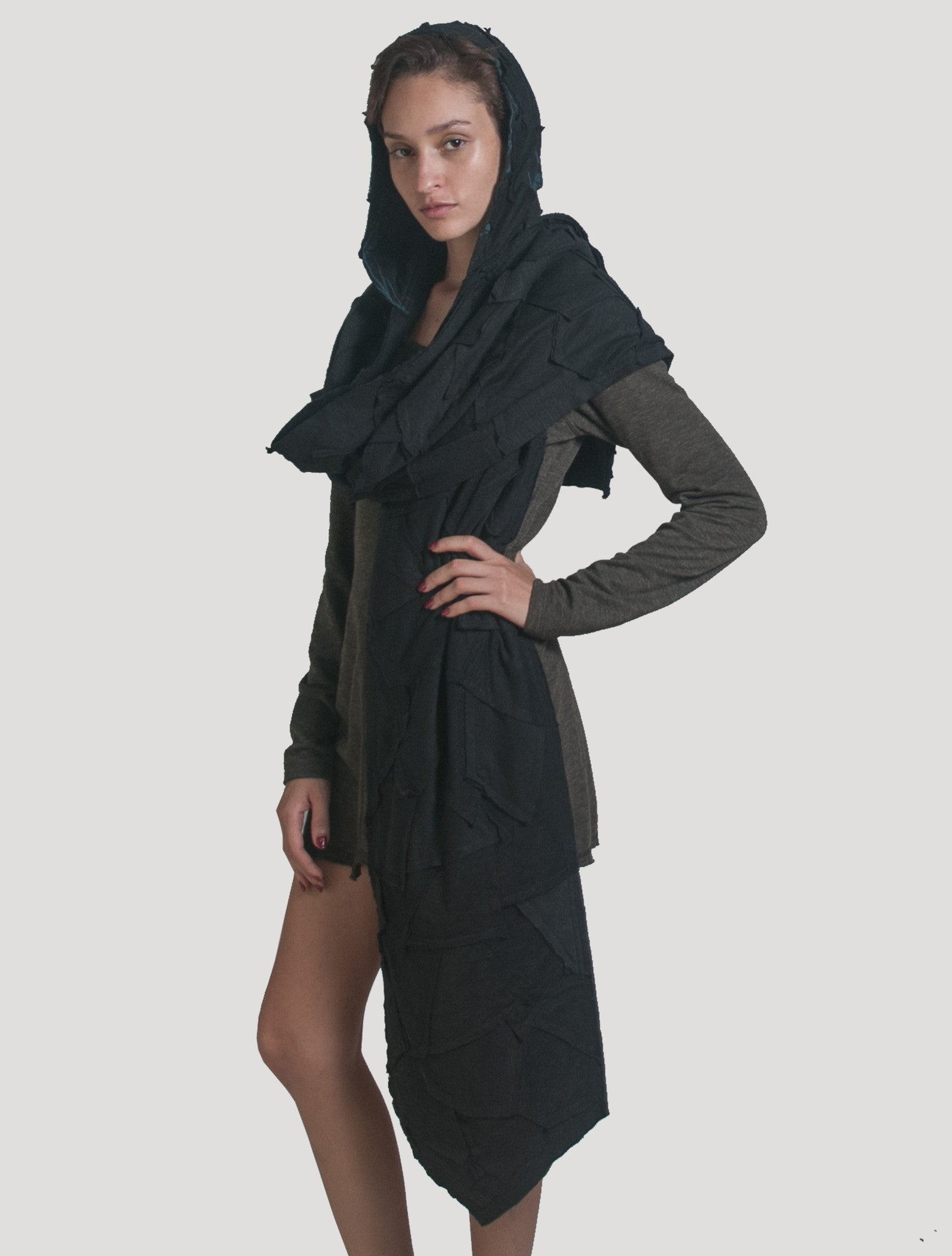 'Tosca Hooded' Scarf