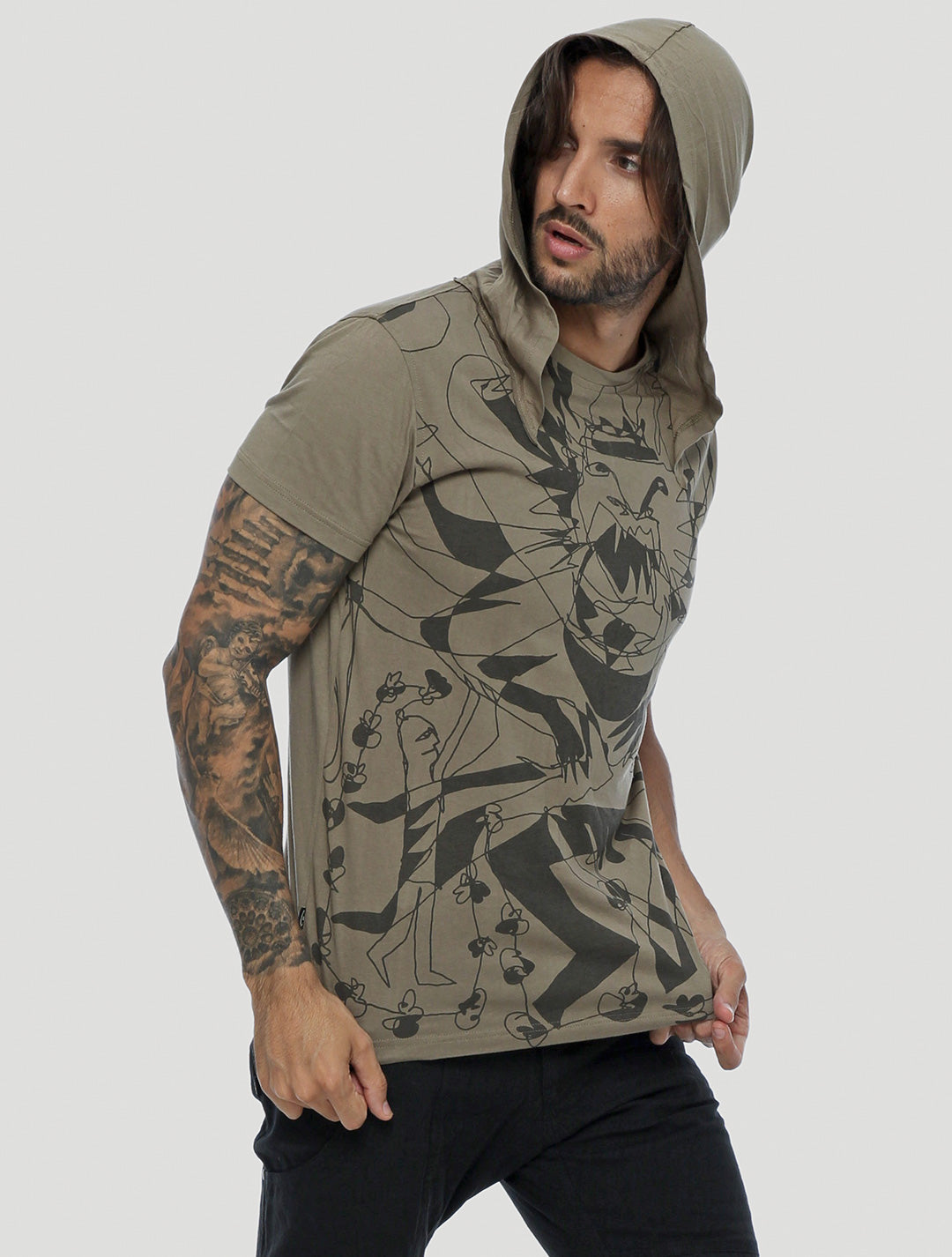Vishnu Hooded Tee - Psylo Fashion