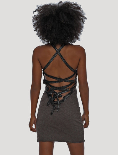 Way Rmx Open-Back Mini Dress
