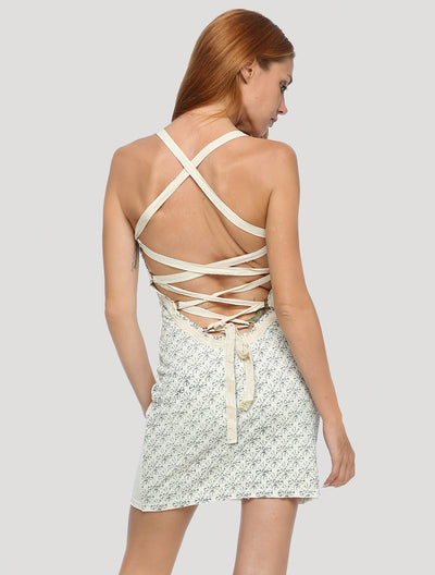Way Backless Mini Dress