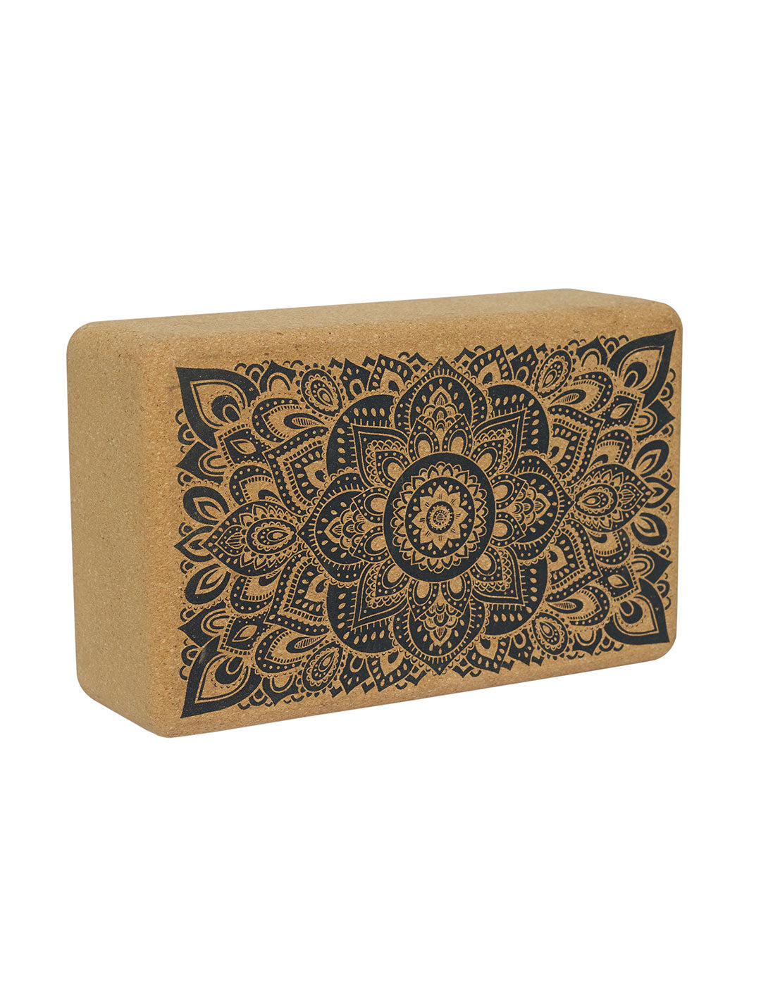 Mandala Black Cork Block by Yoga Design Lab - Psylo Fashion
