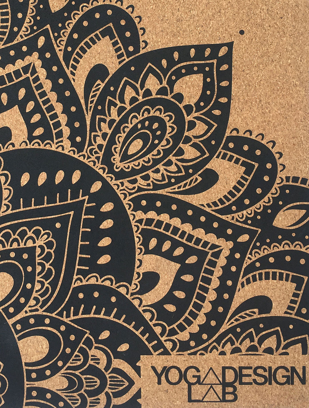 Travel Cork Mat Mandala Black by Yoga Design Lab - Psylo Fashion