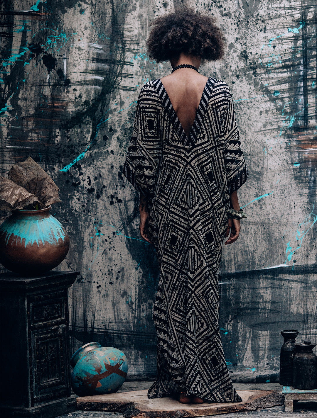 Desert Kaftan' Long Kimono-Style Dress by Alekai