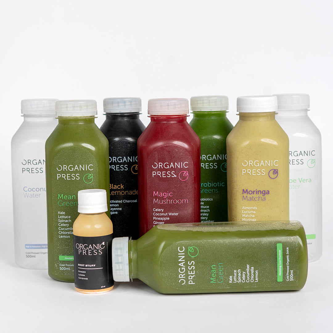 Premium Low Fructose Cleanse (8 Juices & 1 Shot)