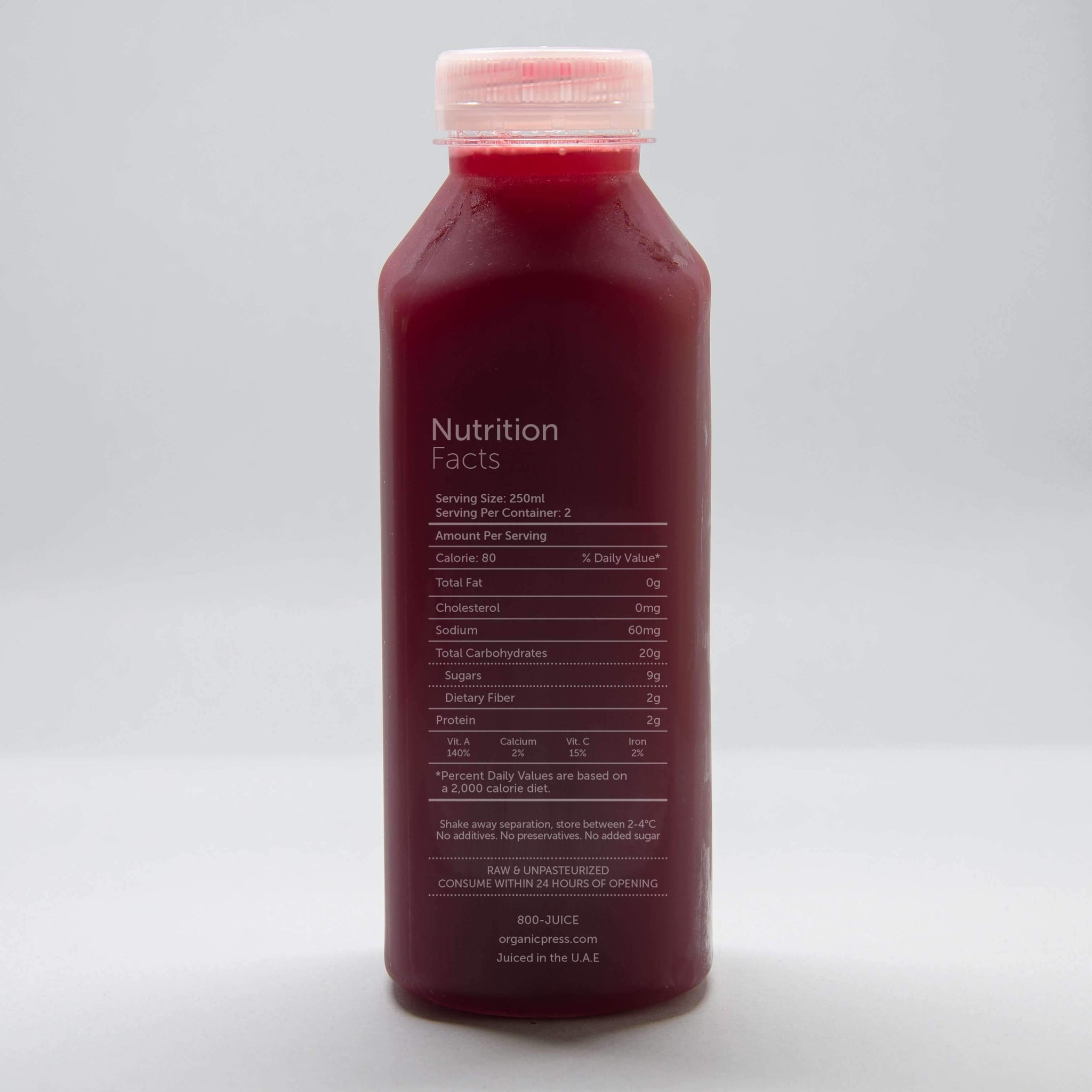Beet It: Beetroot, Carrot, Apple, Lemon & Ginger (500ml)