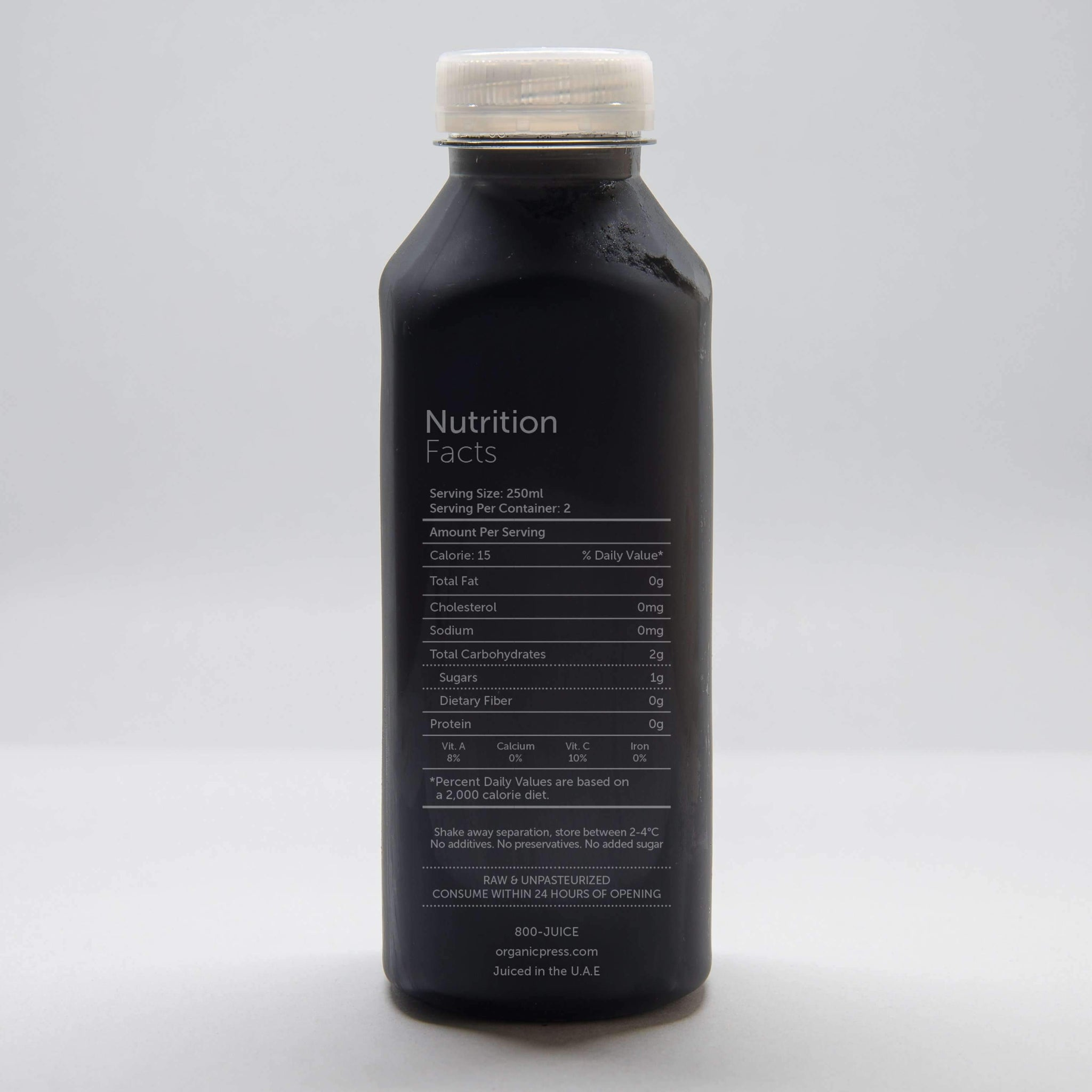 Black Lemonade: Activated Charcoal, Lemon, Cayenne & Agave (500ml)