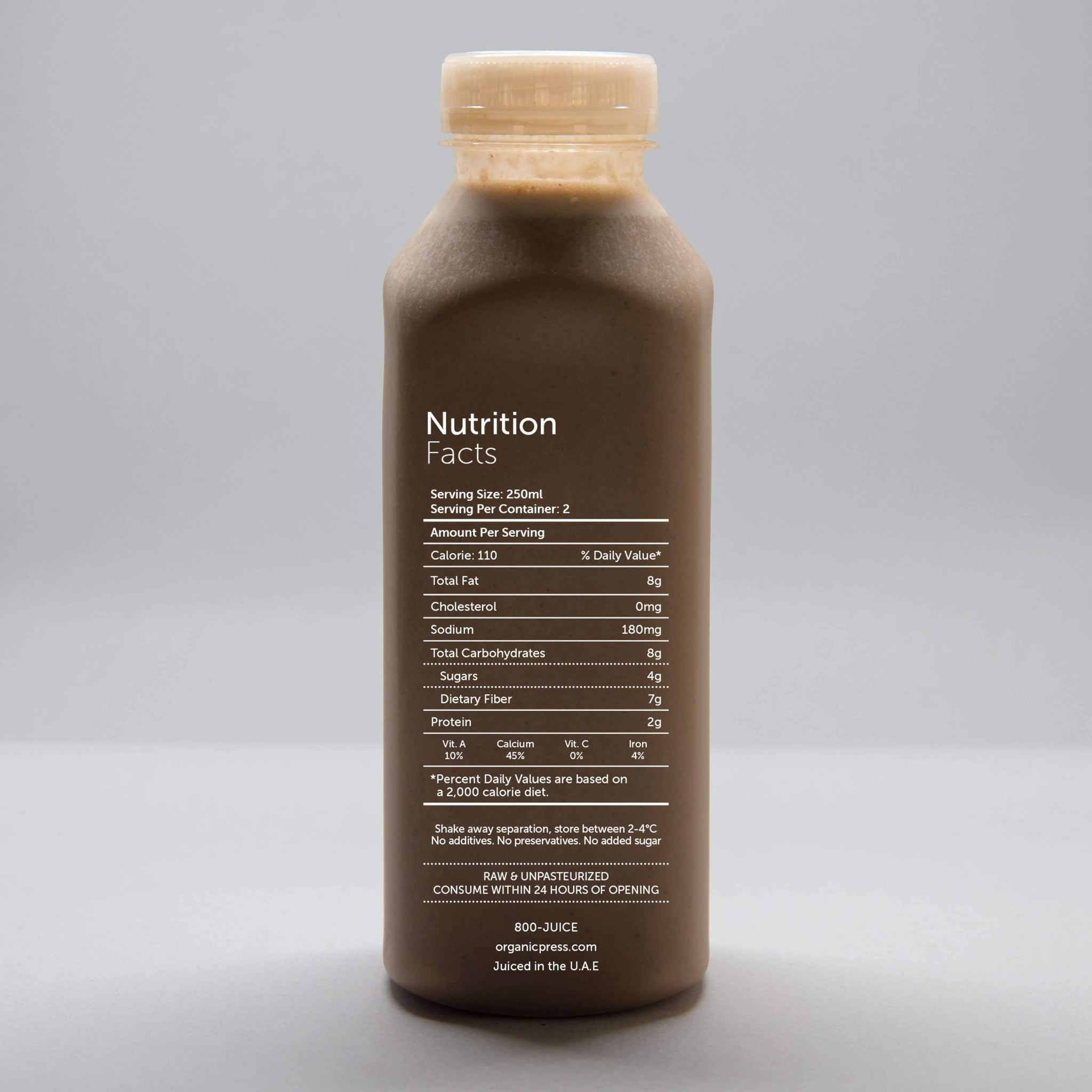 Chocolate Mylk: Almonds, Cashews, Vanilla, Dates, Cacao, Maca, Himalayan Salt (500ml)