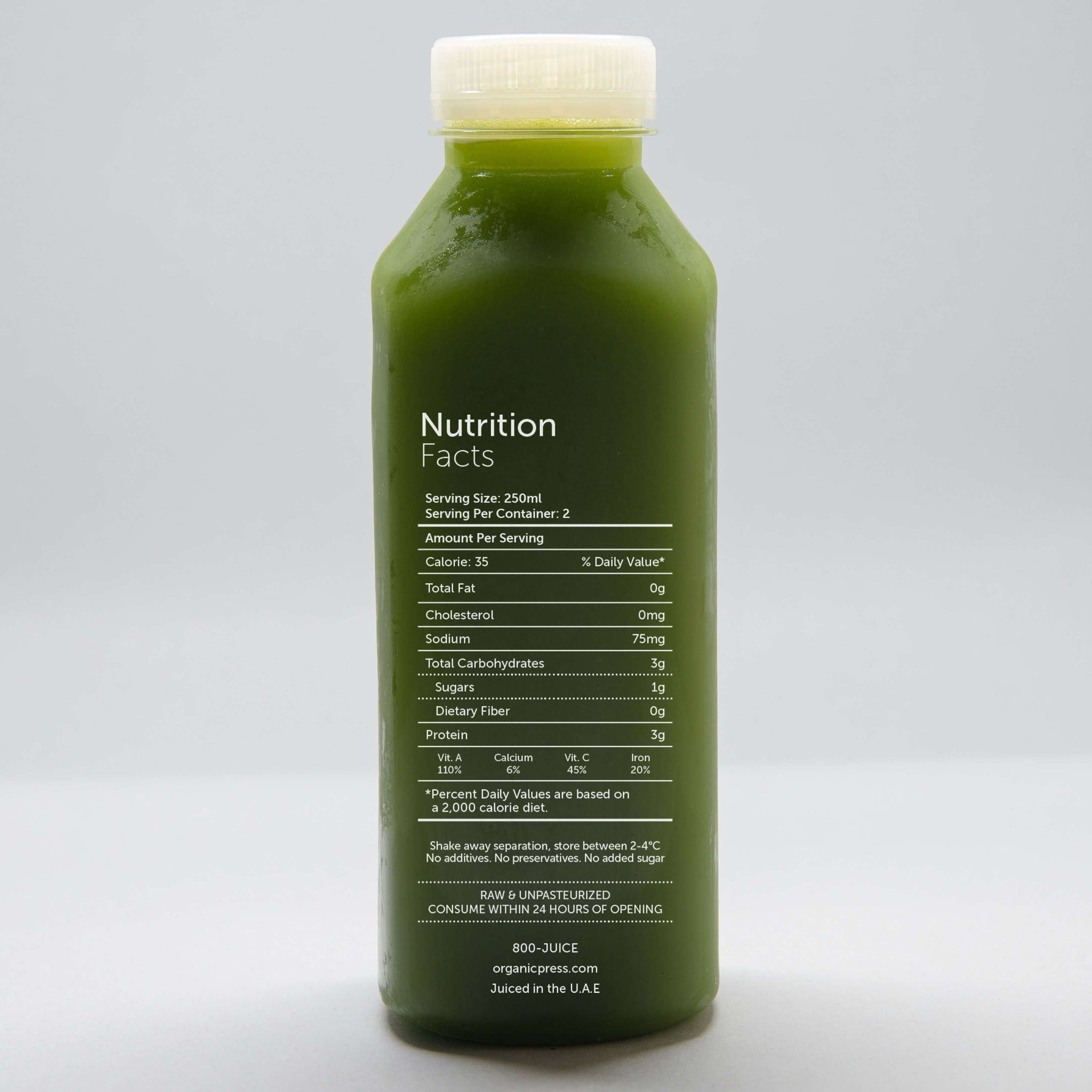 Mean Green: Kale, Lettuce, Spinach, Cucumber, Celery, Chlorella & Lemon (500ml)