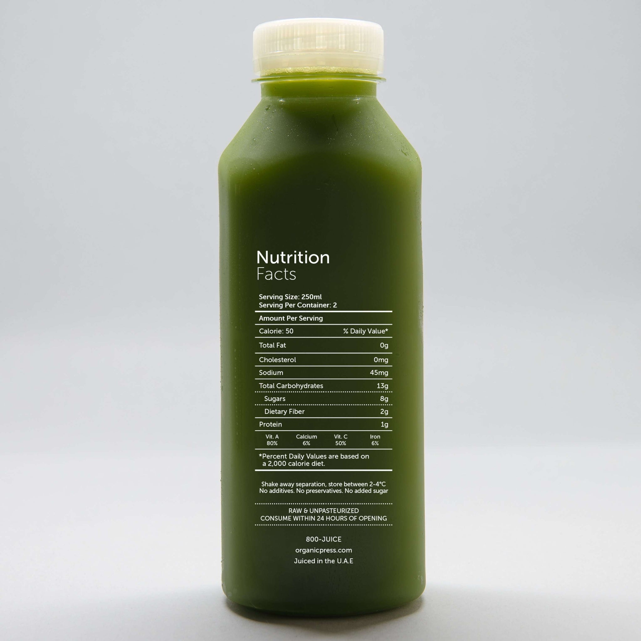 Nine Essentials: Kale, Lettuce, Spinach, Parsley, Celery, Cucumber, Apple, Lemon & Ginger (500ml)