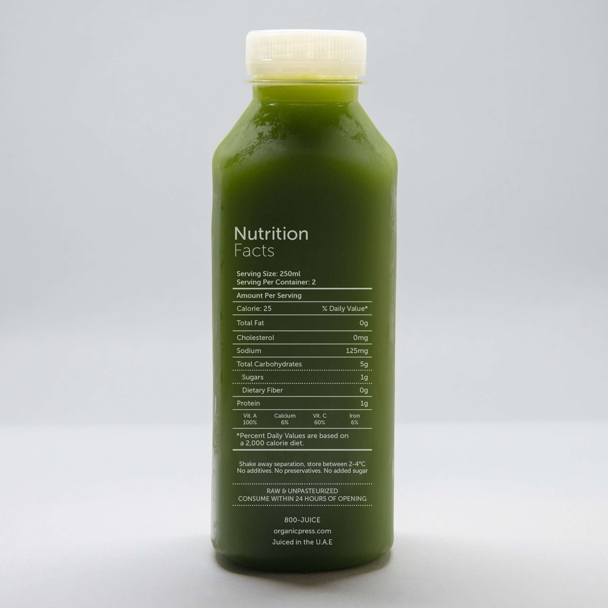 Probiotic Greens: Probiotics, Kale, Lettuce, Spinach, Parsley, Celery, Cucumber, Lemon, Ginger, Spirullina (500ml)