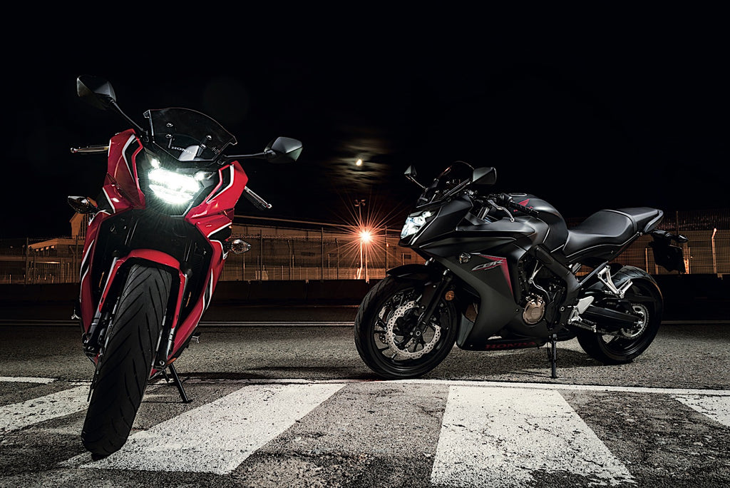 CBR650R. For 2019, the CBR650F has become the CBR650R, taking styling cues directly from the CBR1000RR. The revised model name and looks indicate a potent shot of sporty ability, designed to be explored and enjoyed on the street. Taking Orders for 2021.