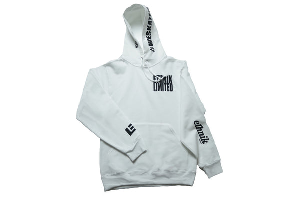 "ETHNIK ""THE SAINT"" White Hoodie (LIMITED LINE) - ETHNIK LIMITED"