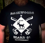 Beard Crossing Tshirt- Jet Black