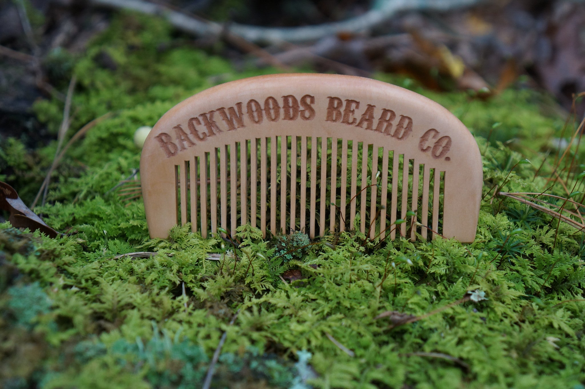 Handcrafted Natural Peach Wood Beard Comb
