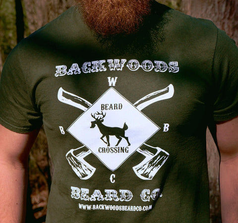Beard Crossing Tagless Tee