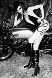 Snake tattoo on biker chic, rock ´n roll Audrey Marney by SkinSins
