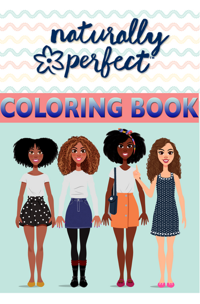 Naturally Perfect Dolls Coloring Book