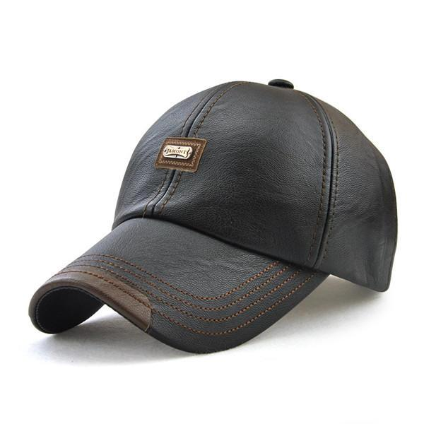 Premium Adjustable Genuine Leather Cap