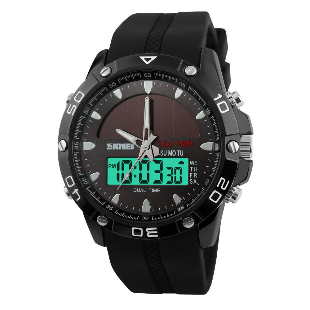 ★ HOT ★ Solar Power Military Dual Time