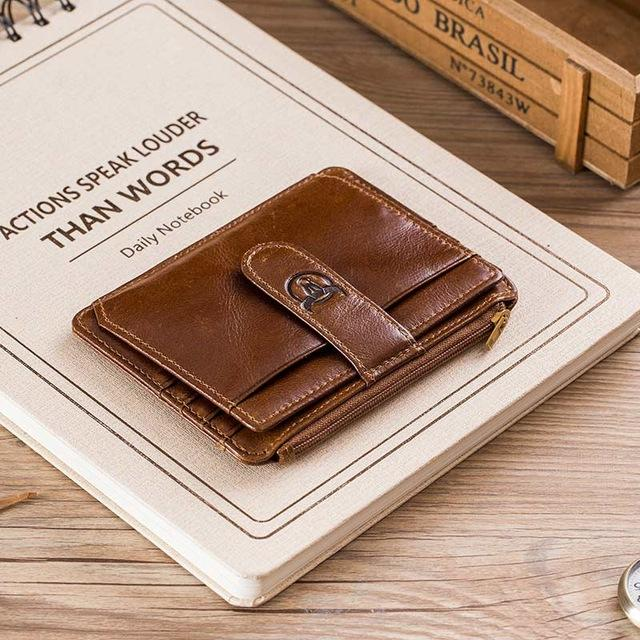 RFID Lightweight Bifold Genuine Leather Wallet