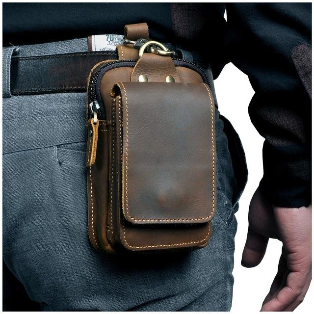 Genuine Leather Waist Bag Deluxe