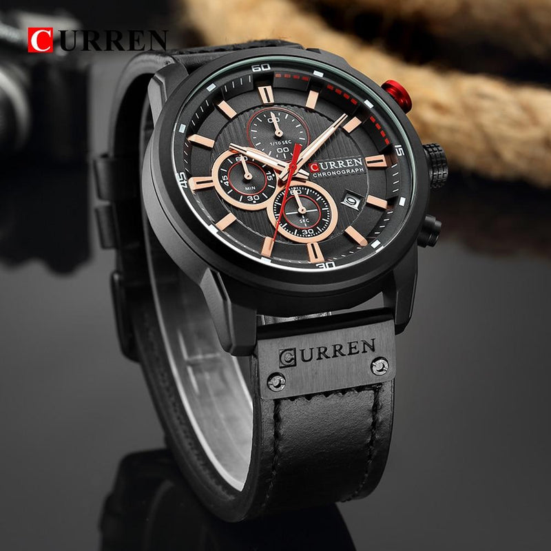 Curren Chronograph Sport Genuine Leather Watch